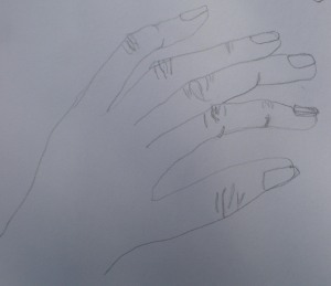 Right hand drawing