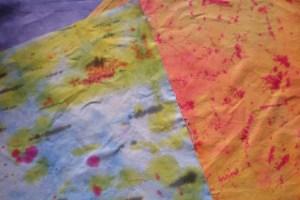Dyed scrap fabrics
