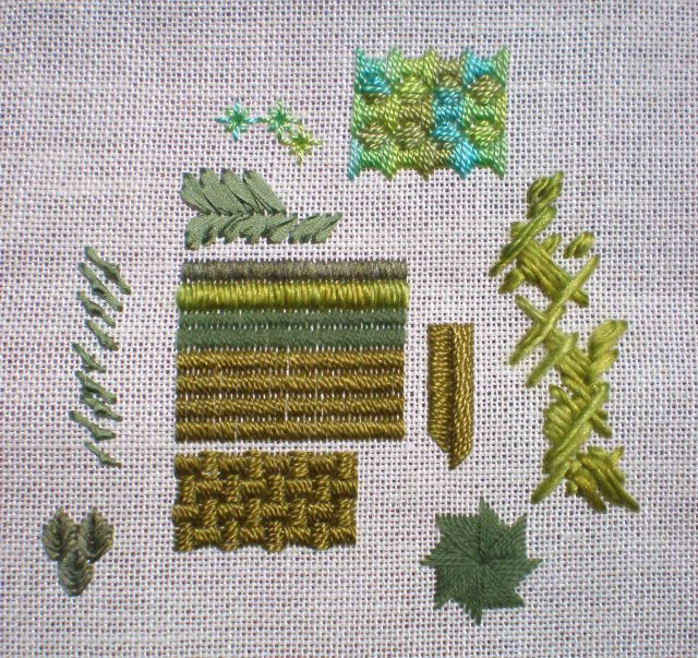 Satin stitch texture sampler