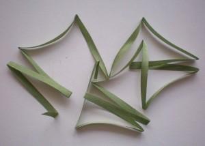 Un-ironed silk ribbon