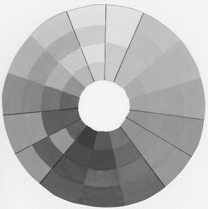 Colour wheel grey scale