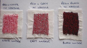 Red tonal samples