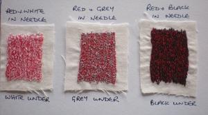 Red tonal samples