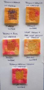 Yellow samples