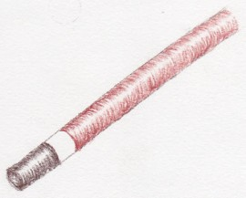 Pencil end
