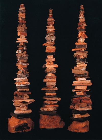 Brown Foam Totems