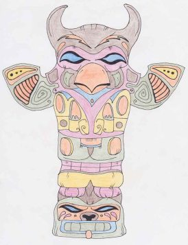 Coloured totem