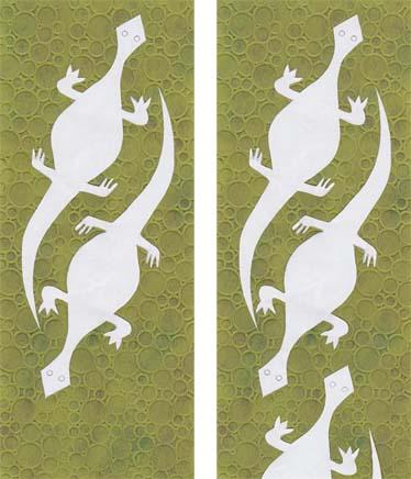 Gecko cutout multiple 1