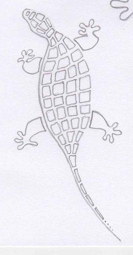 gecko stencil template
