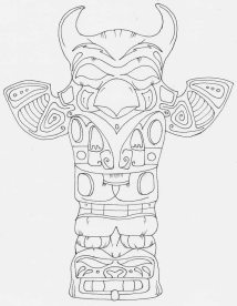 Outlineof Eagle totem