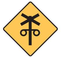 Sign - railway crossing