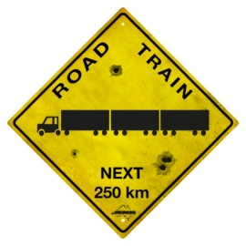 Sign - road train