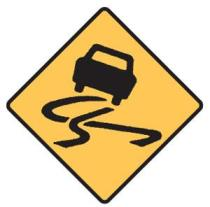 Sign - slippery road