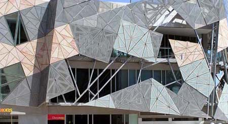 Fed square close up