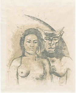 Tahitian-Woman-with-Evil-Spirit