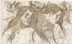 Paul Gauguin. Two Marquesans. (c.1902)