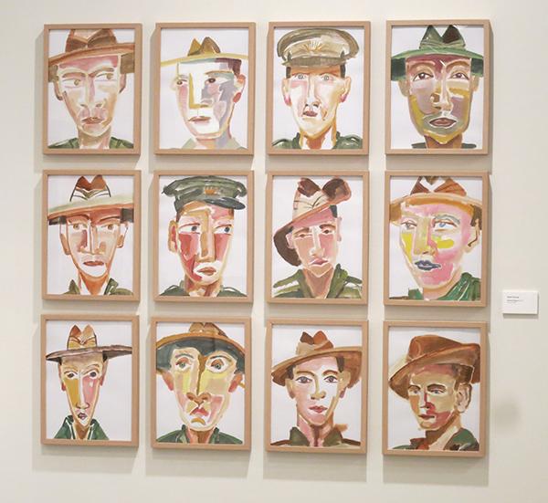 Gallipoli Diggers Geoff Harvey, 2015 acrylic on paper